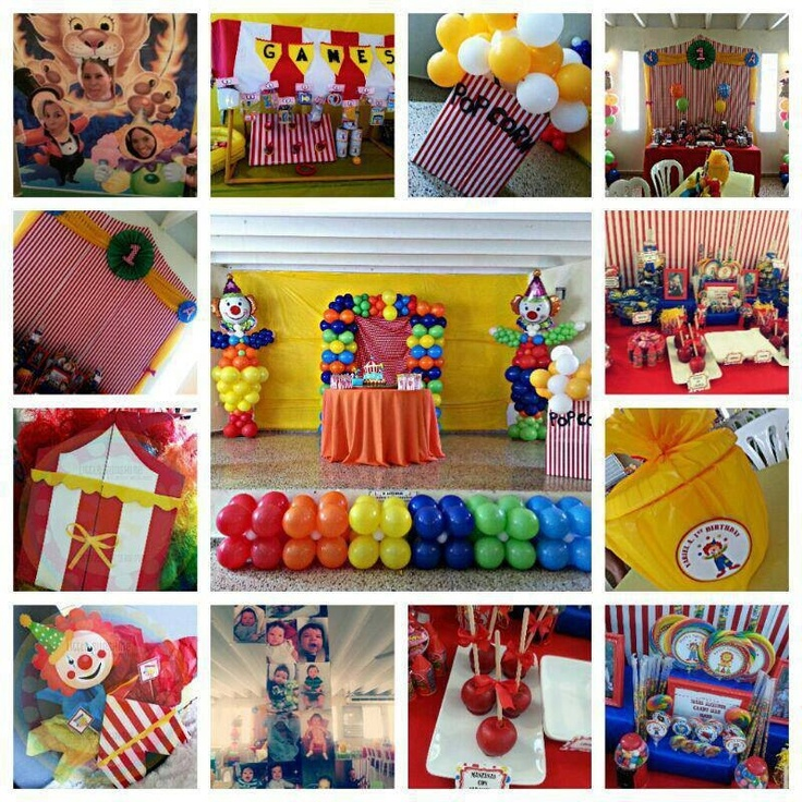 Find This Pin And More On Birthday Ideas Blue Carnival Circus Party