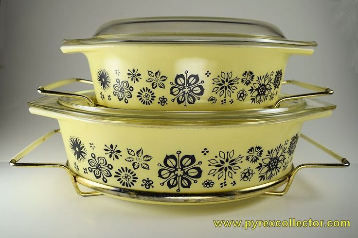 Image result for pressed flowers pyrex set
