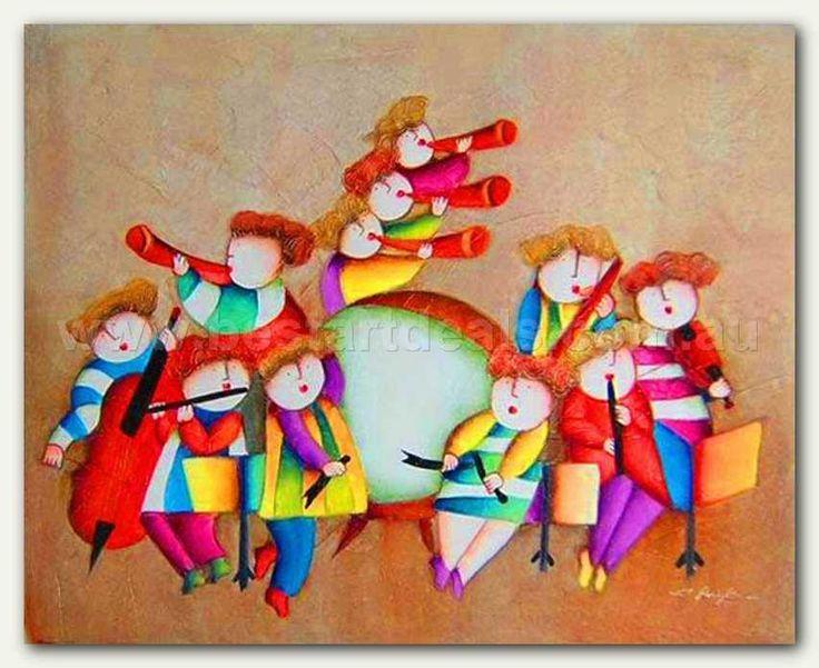 Kids Oil Paintings_  Music Band, $99.00 http://bestartdeals.com.au