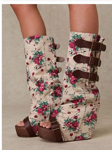 Irregular Choice floral boots