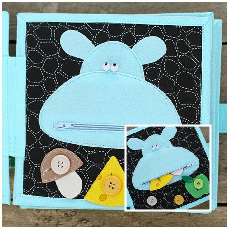 Personalized 4 page Quiet book/ Busy book, Interactive Children's toy