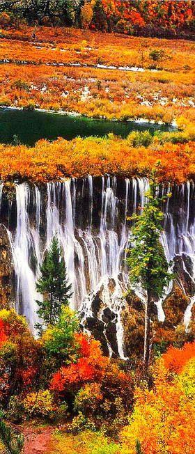 Beautiful Waterfall is Nuorilang_falls at Jiuzhaigou Nature Reserve in China PinterestBob www.NewHomes288.com