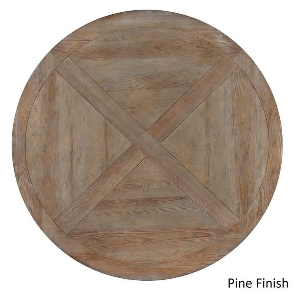 60 Inch Round Wood Table Part - 27: SIGNAL HILLS Benchwright Rustic X-base 60-inch Round Dining Table