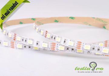 Banda cu LED ,5050 smd , 60 led/m , alb rece , lumina rece, 6500k , interior , IP20