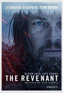 The Revenant (2015) R  |  156 min  |  Adventure, Drama, Thriller  |  8 January 2016 (USA) ~~~A frontiersman named Hugh Glass on a fur trading expedition in the 1820s is on a quest for survival after being brutally mauled by a bear.  ~~~ITS A MUST SEE, BRILLIANT CAST,and CINEMATOGRAPHY...