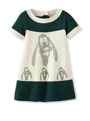 49% OFF Monnalisa Girl's Pluto Dress (Green/Ivory)