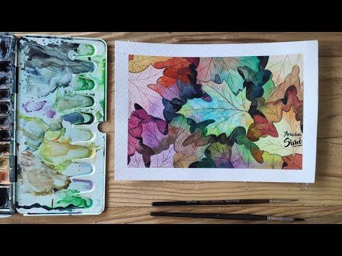 Watercolor, Youtube, Painting, Watercolor Leaves, Water Colors, Dibujo, Painted Leaves, Autumn Leaves, Learn To Paint