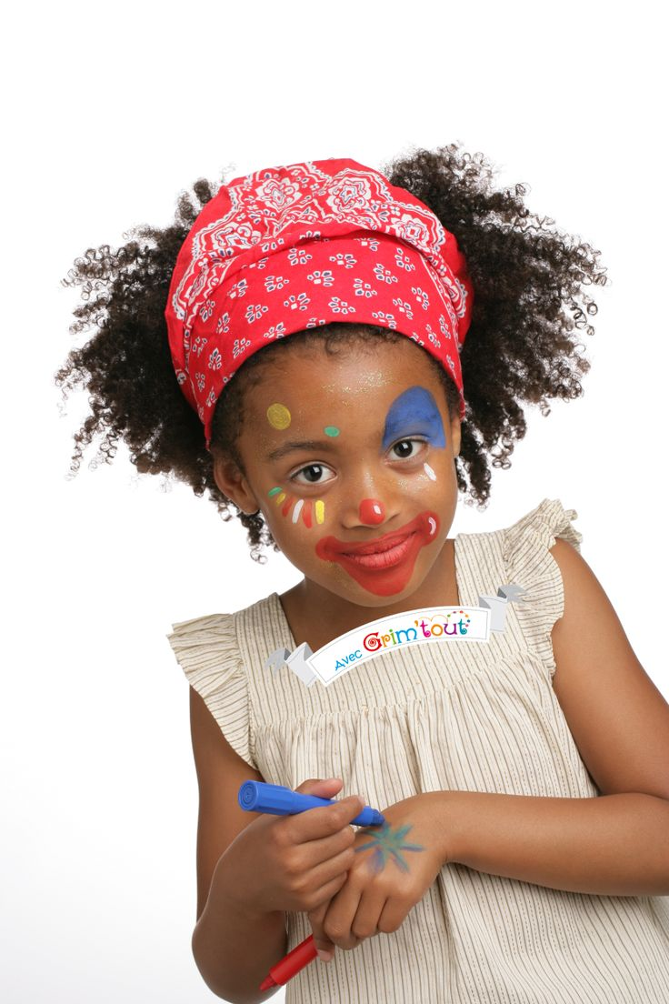 17 best images about maquillage enfant on pinterest reindeer pirates and monster design - Maquillage de clown facile ...