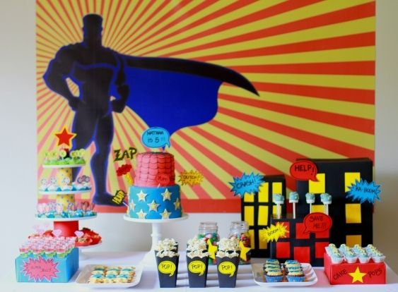 SuperHeroes Table Styling 2