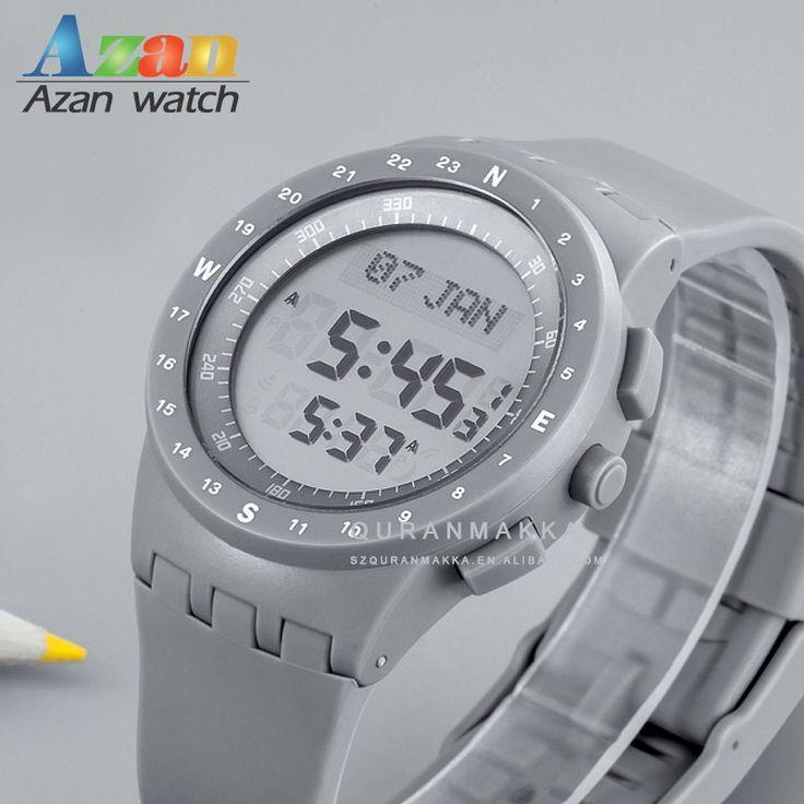 Digital Muslim Prayer Watch with Azan Time Alarm