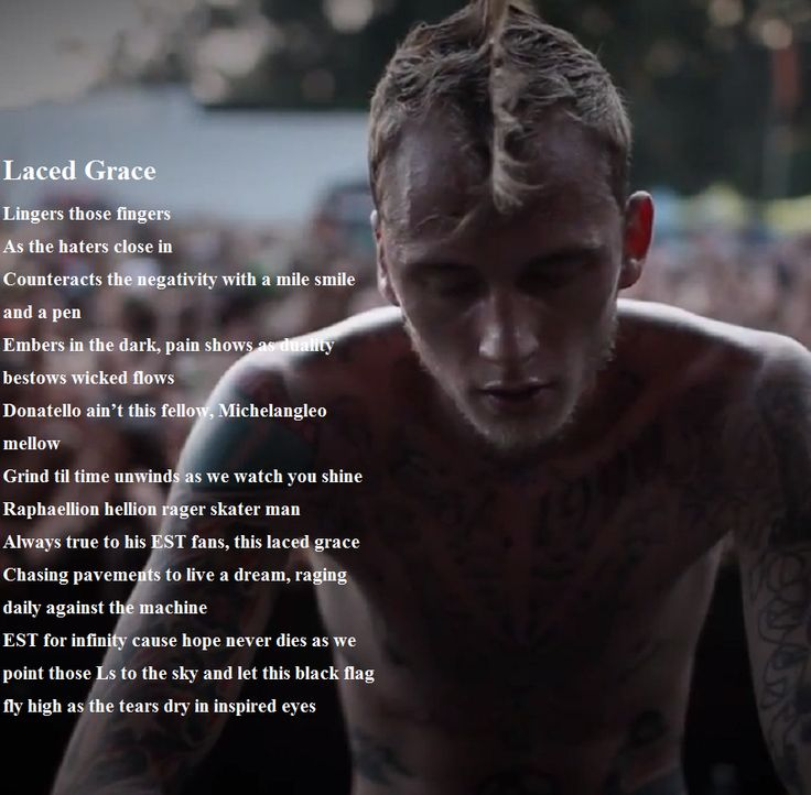 Acrostic poem I wrote about Machine Gun Kelly, was one of my favorite poems to write and it means a lot to me. ⭐19XX⭐   ❤EST4Life❤  ♠LTFU♠
