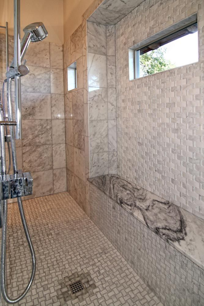 25 best walk through shower ideas on pinterest big for Walk through shower pros and cons