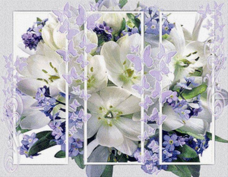 Цветы и бабочки, предпросмотр
