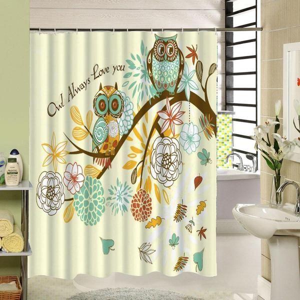 Cute Owl Shower Curtain Perfect For Halloween My Soul Spirit Shower Curtain Decor Cool Shower Curtains Bathroom Shower Curtains