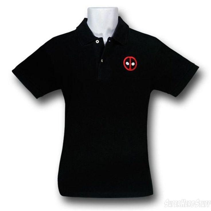 Images of Deadpool Symbol Men's Polo Shirt