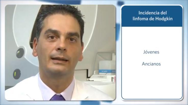 Vídeo: El buen pronóstico del linfoma de Hodgkin. El doctor Carlos Panizo, especialista del Departamento de Hematología y Hemoterapia, explica la incidencia del linfoma de Hodgkin y su tratamiento.