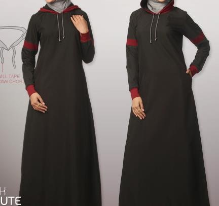 my black jilbab :D