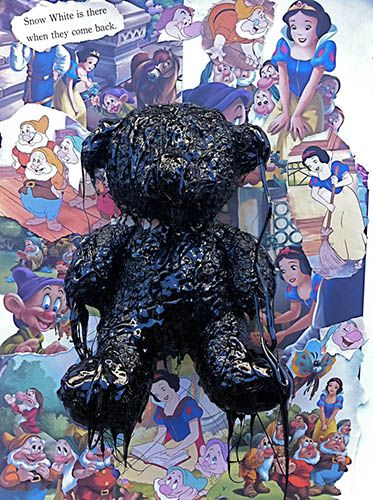 "LA based artist Mattia Biagi  ""I Will Survive Medium""   tar teddy bear"