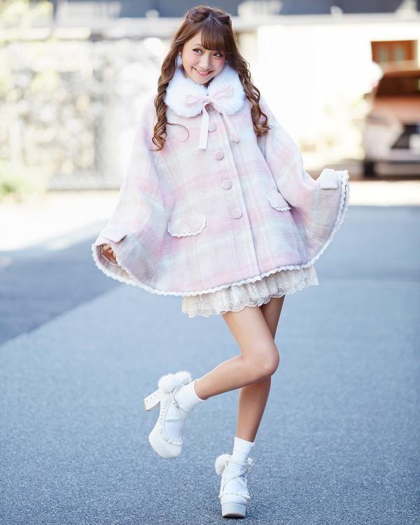 【予約】【WEB&渋谷109LIMITED】先染めチェックポンチョ 渋谷109で人気のガーリーファッション リズリサ公式通販