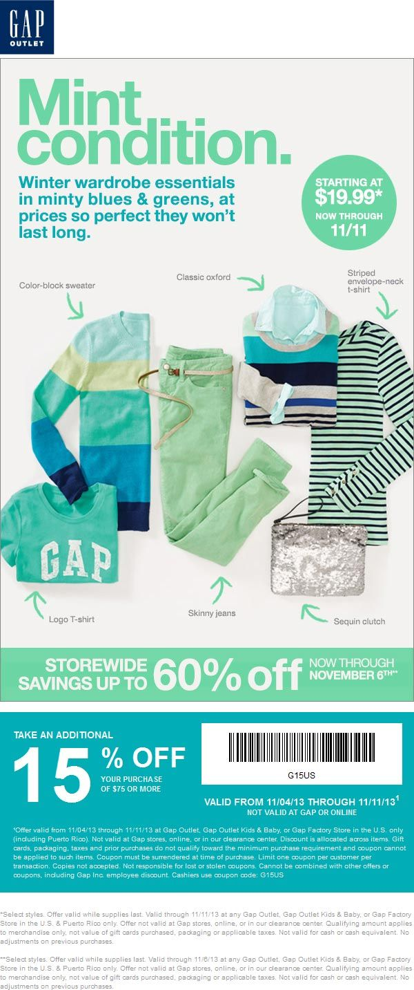 Pinned december 11th 30 off at gap or online via promo code shop coupon via the coupons app the coupons app pinterest