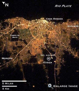 satellite image of buenos aires argentina at night