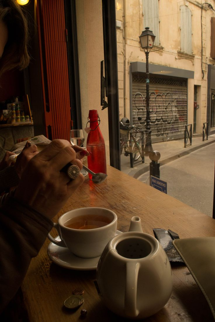 #Street #Aix-en-Provence , France From one of the many little cafes of the city it is possible to enjoy the ouside of the streets of the quite little city