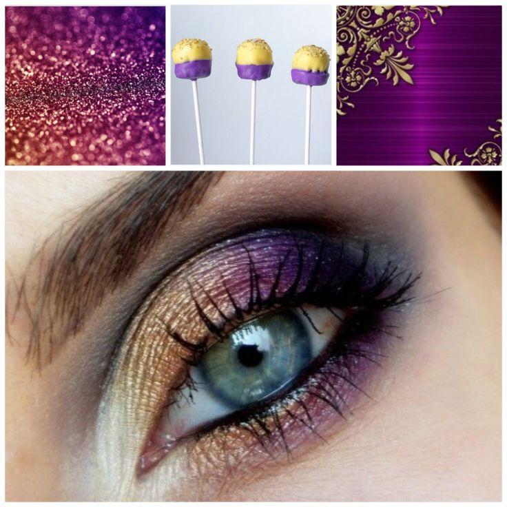 Вдохновение контрастом! Вариант вечерний, не злоупотреблять;)  #makeup #макияж #вдохновение #фиолетовый #золотой