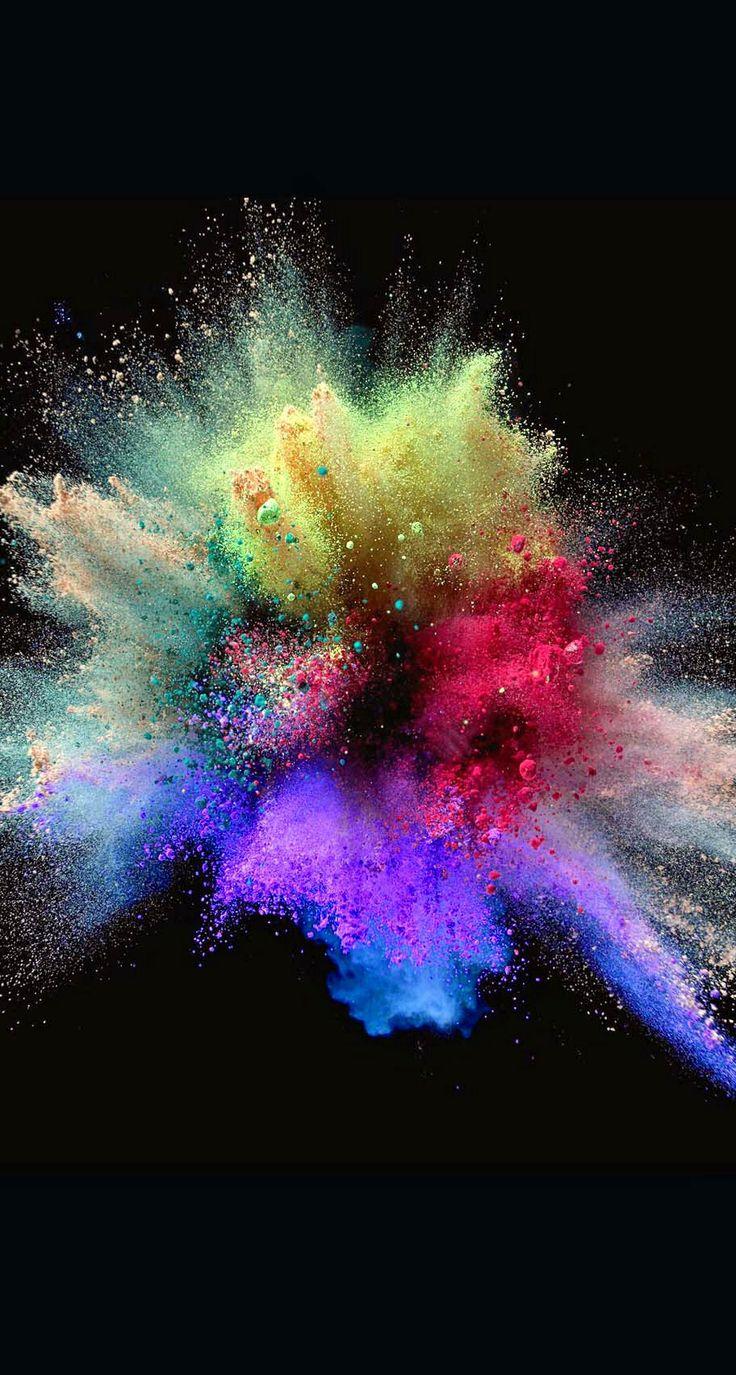Chalk Explosion | Art | Wallpaper, Color splash, Color powder
