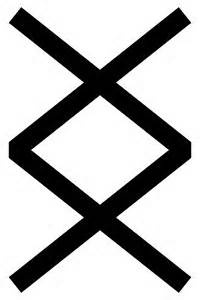 Viking rune : New beginnings in general. It is also a rune of transitions and may call for us to leave the past and matters of previous situations behind us. This powerful rune implies mental and emotional strength - the strength needed to achieve completion of a task, phase, or situation - and to move into a new cycle. Simplified it's 'Where there's a will, there's a way'