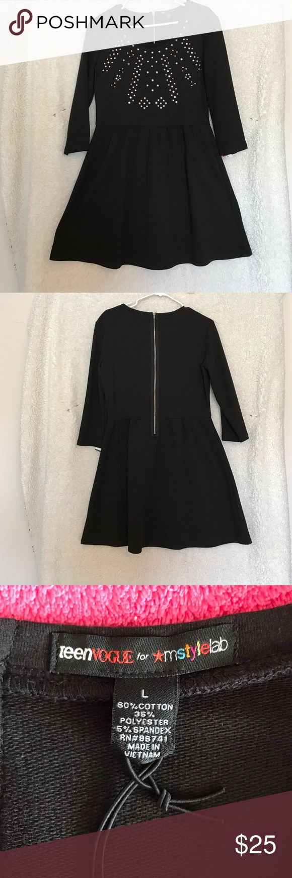 Teen Vogue Black Rhinestone Dress New With Tags Teen Vogue Black Rhinestone Dress. No Trades Please TeenVogue  Dresses Long Sleeve