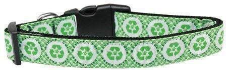 Recycle Symbol Nylon Dog Collar