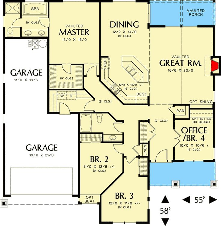 204 best house plans over 1800 sq ft images on pinterest for 1800 sq ft house plans open concept