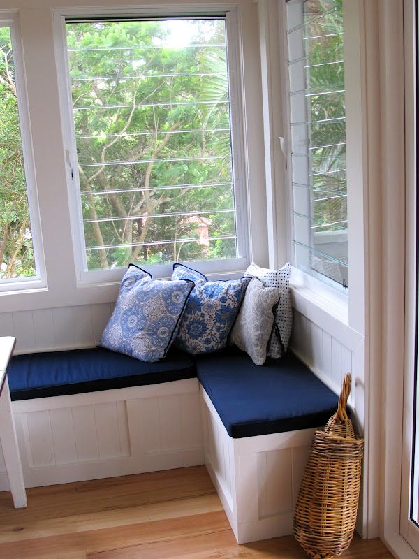 window seat and louvres
