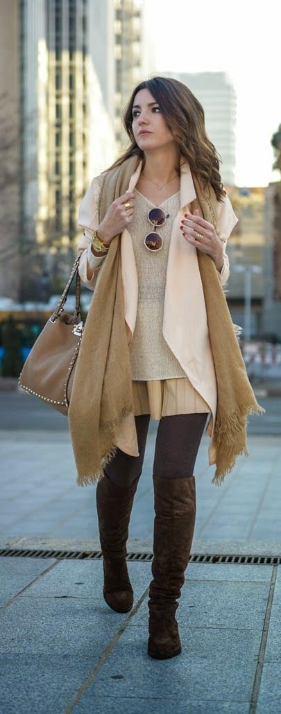 Pastel Jacket + Over The Knee Boots / Best LoLus Street Fashion