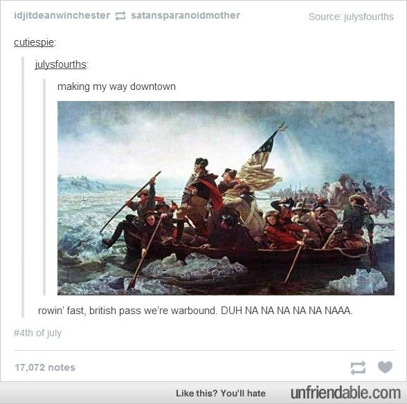 This is how the Fourth of July is on tumblr.