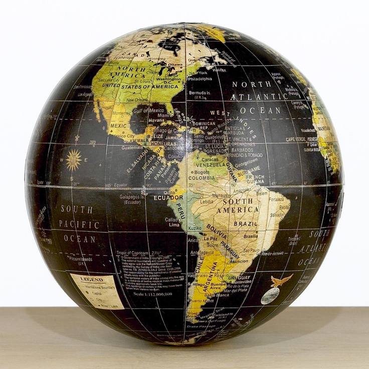 Decorative Black Globe World Market 227
