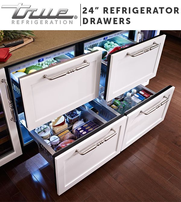 TRUE Undercounter Refrigerator Drawers are the ideal addition to your home, both indoor and out. They don't simply provide extra storage—they also help organize the way you use your kitchen.