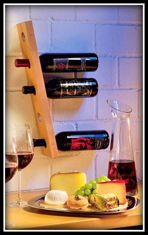Suporte de vinho na parede - DIY - *Decoração e Invenção*