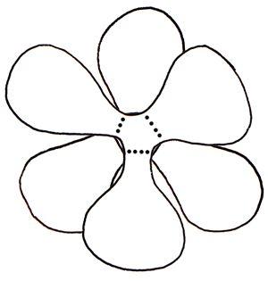 Diagram showing arrangement of stem, outer petals and inner petals.
