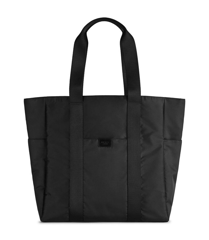 REISS WALTER TOTE BAG BLACK. #reiss #bags #polyester #tote #leather #lining #shoulder bags #hand bags #nylon #