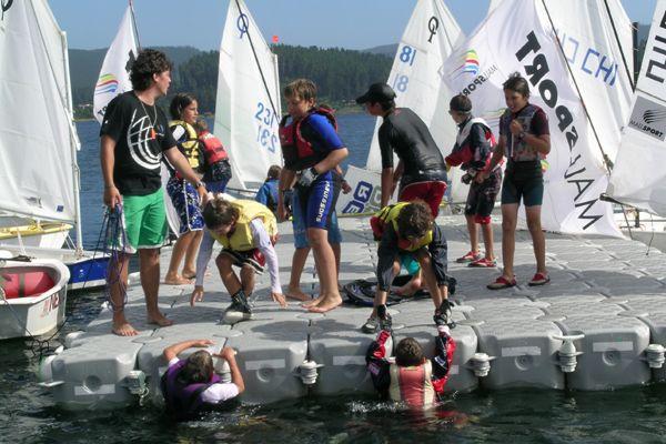 En la recreación juvenil, deporte y competencia, toda una aventura.
