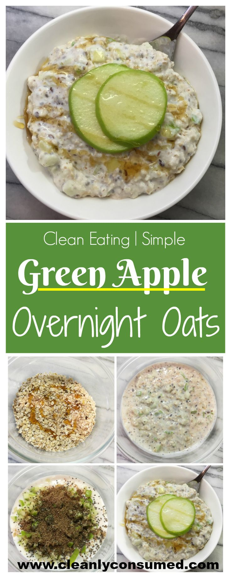 A quick prep for an even quicker morning- these easy overnight apple pie oats are a recipe to keep on hand!  Hopefully I had you at quick and easy because they are also healthy and supportive too!  This recipe is for two servings- and it is favored by both adults and children!