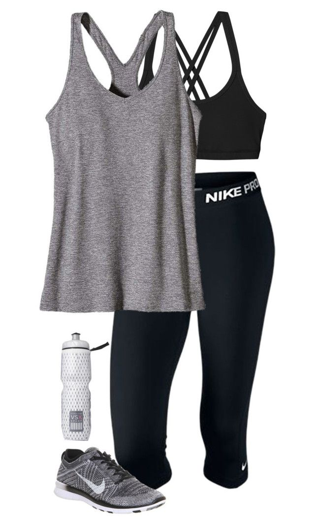 """""""workout outfit"""" by sassy-and-southern ❤ liked on Polyvore featuring Patagonia, NIKE, Victoria's Secret, women's clothing, women's fashion, women, female, woman, misses and juniors"""