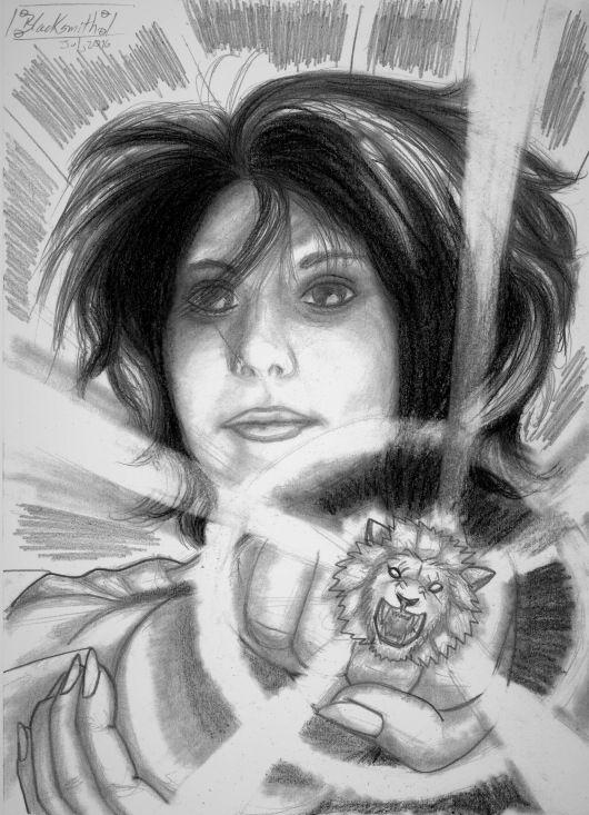 «Tercera ley de Newton: El león rugiente» #ilustración y #relato por Blacksmith Dragonheart