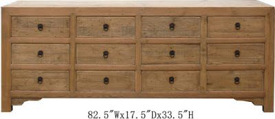 teak buffet made in indonesia, from solid teak wood with many drawers.