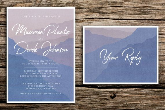Misty Mountain Wedding Invitation Suite // Mountain by factorymade