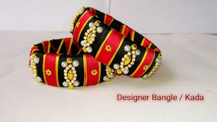 How To Make Designer Bangles // Silk Thread Jewellery // Silk Thread Ban...