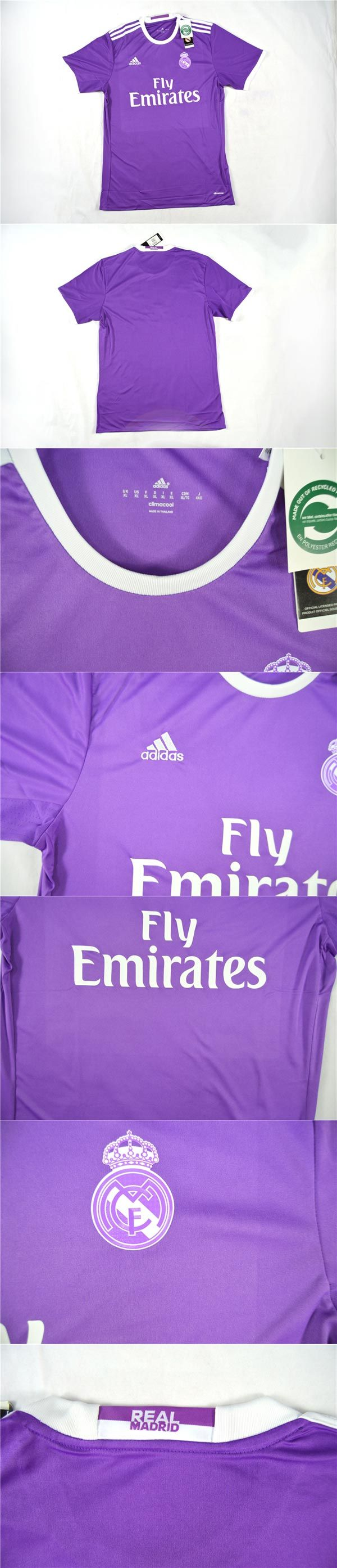 Cheap Soccer Jerseys    Spanish Liga Real Madrid Away Purple Soccer Jersey Shirt 2016-2017   www.hotclubjersey.com