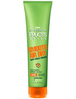 Smooth Air Dry Anti-Frizz Cream Our lightweight fast absorbing paraben-free formula, with fairly and sustainably sourced Argan Oil from Morocco, controls frizz and holds hair's natural shape while you air dry your hair. Hair is smooth and shiny with a product-free feel.