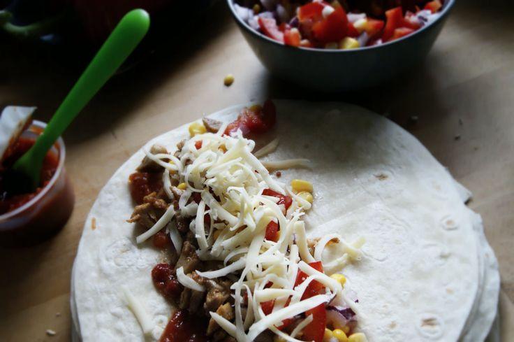 Familiemat – Enchiladas med kylling (oppskrift fra godtlevert.no)